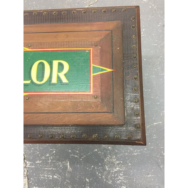 Americana 1940s Folk Art Pine Box With James F Taylor Letting For Sale - Image 3 of 8