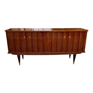 1940s Vintage French Macassar Ebony Sideboard For Sale