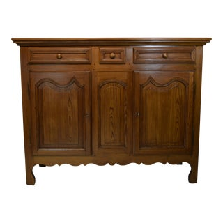 19th-Century French Country Pine Buffet For Sale
