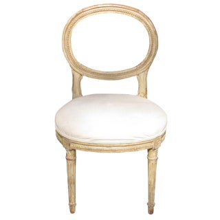 Petite Vintage French Louis XVI Style Chair For Sale