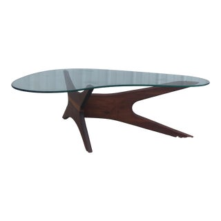 Adrian Pearsall Jacks Coffee Table With Boomerang Glass Top For Sale
