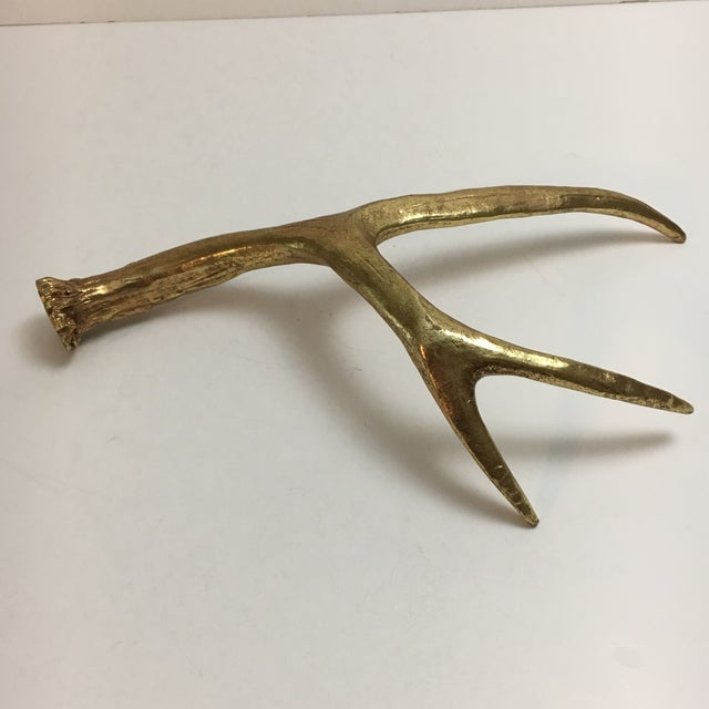 Painted Gold Sculptural Antler - Image 5 of 6