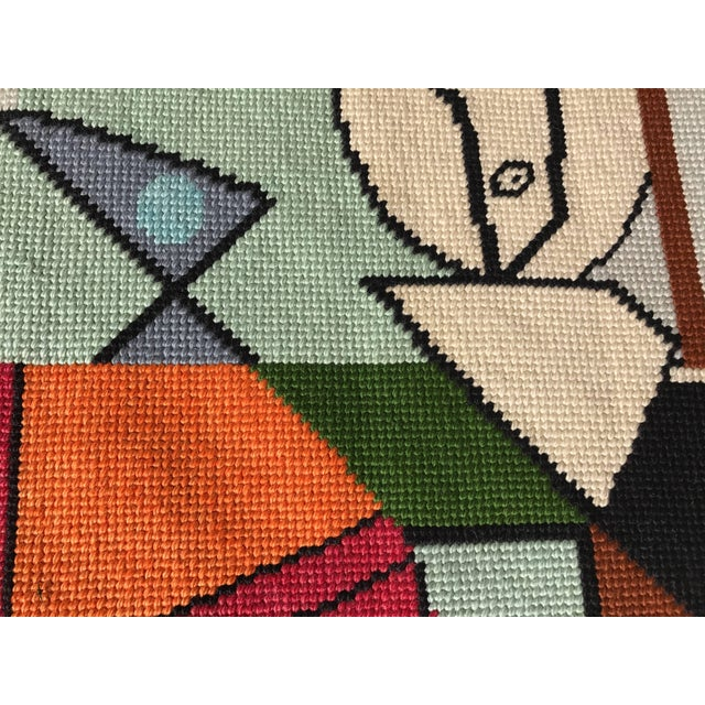 Abstract Modernist Abstract Hand-Loomed Rug or Wall Hanging After Picasso - 3′5″ × 2′5″ For Sale - Image 3 of 6