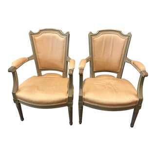 1960s Vintage Louis XVI Chairs- A Pair For Sale