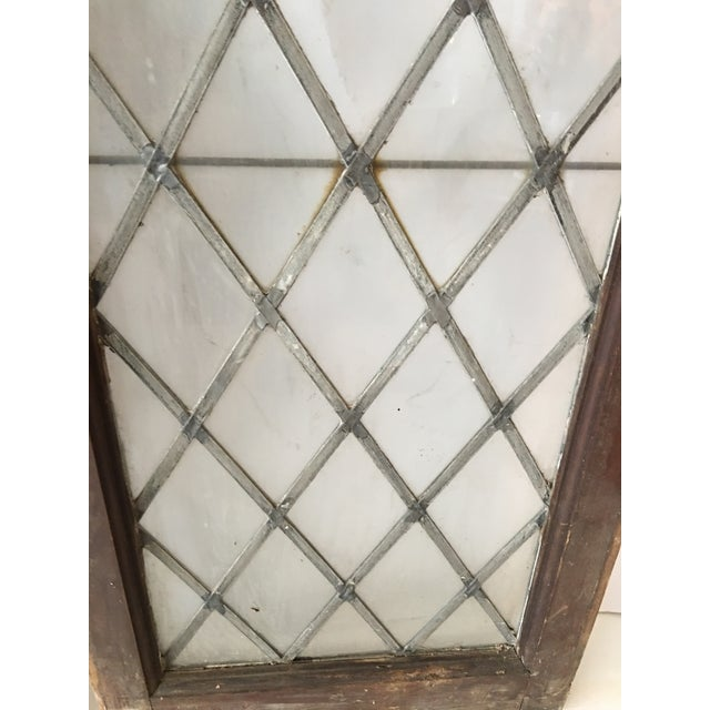 1920s 1920s Antique Upstate New York Leaded Glass Window Panels- a Pair For Sale - Image 5 of 7