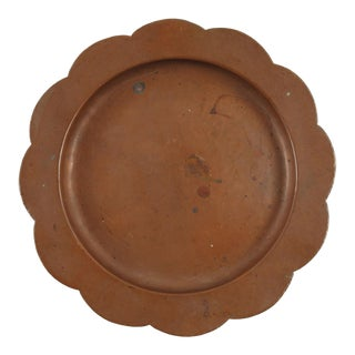 Hand Hammered Copper Plate For Sale