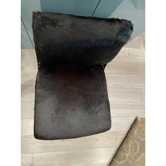 Black Hide & Brass Swivel Office Chair For Sale In Los Angeles - Image 6 of 7