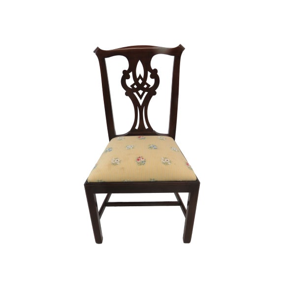 Wood Henkel Harris Chippendale Dining Mahogany Chairs Model 101 - Set of 6 For Sale - Image 7 of 13