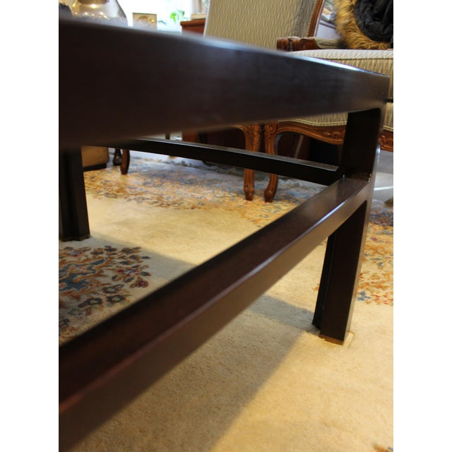 Brown Mid-Century Modern Wormley for Dunbar Rare Mahogany Rectangular Coffee Table For Sale - Image 8 of 13