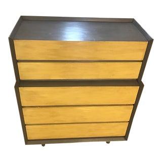 Mid Century Modern Sharp Angled High Boy Dresser For Sale