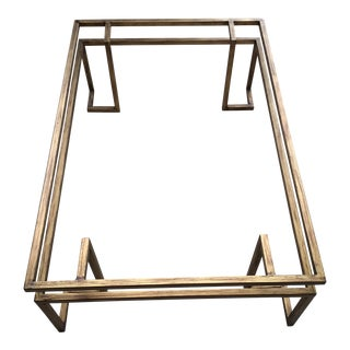 Mid-Century Geometric Steel Coffee Table