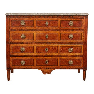 18th Century Italian Neoclassical Marble Chest of Drawers For Sale