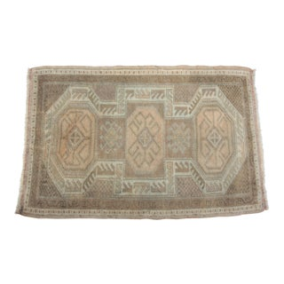 Decorative Vintage Muted Tone Rug - 2′ × 3′ For Sale