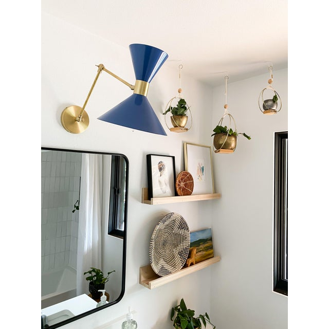 Blueprint Lighting Large Scale Monarch Wall Mount Lamp in Brass, Emerald Green, Blueprint Lighting For Sale - Image 4 of 9
