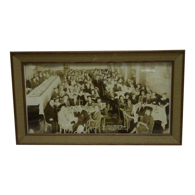 1942 Vintage Russian War Relief Dinner Photograph For Sale