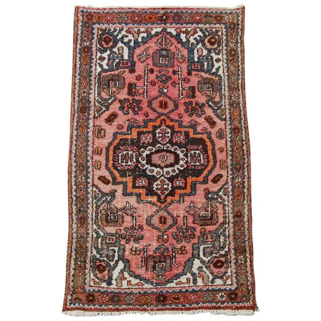 Semi-Antique Persian Kirman Rug - 3′3″ × 6′5″ For Sale