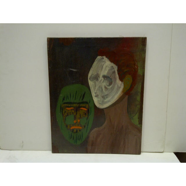 "Original ""The Ghost & the Mask"" Painting - Image 2 of 5"