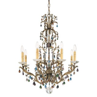 Modern Schonbek Genesis Bronze Gold Chandelier Ceiling Light For Sale