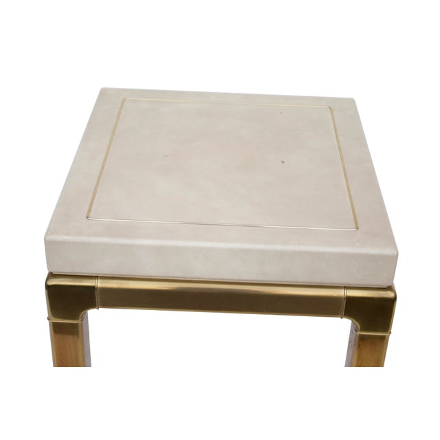 Ming Style Brass and Ivory End Table by Mastercraft For Sale - Image 10 of 11