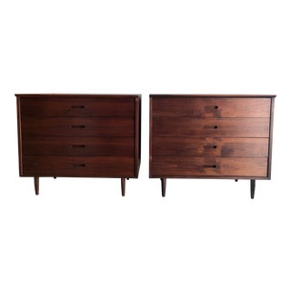 A Pair of Mid-Century Modern Chest of Drawers Dressers Danish Style by Jack Cartwright For Sale