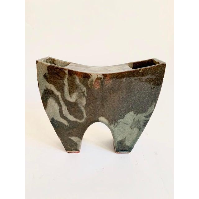 Vintage Ceramic Ikebana Sculptural Vase For Sale - Image 10 of 10