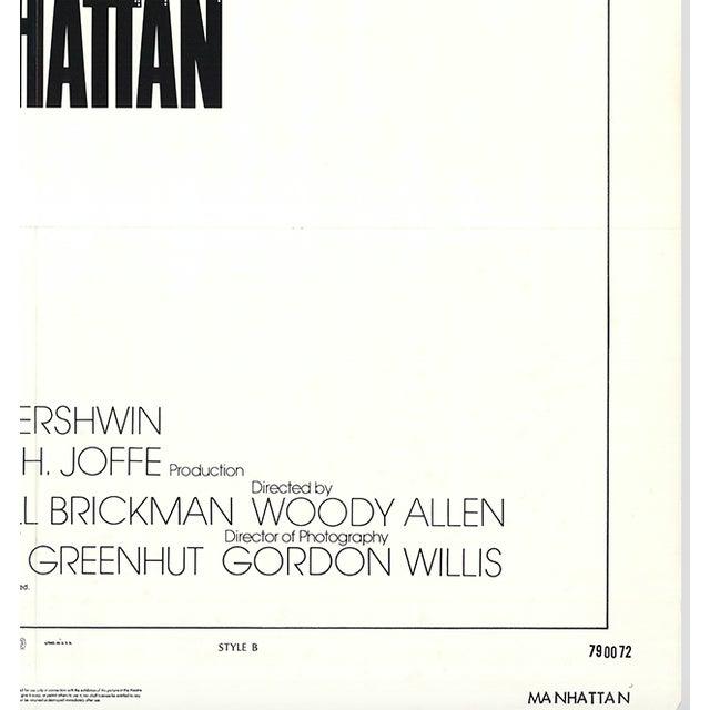 Original 1979 Manhattan Movie Poster - Image 2 of 2
