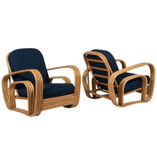Final Markdown Vintage Paul Frankl Style Lounge Chairs- a Pair For Sale