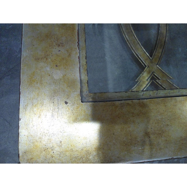 La Barge Gold Wood Framed Glass Top Coffee Table - Image 5 of 7