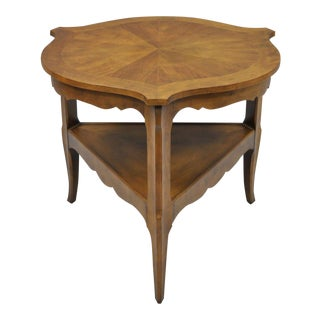 Vintage Baker Furniture French Country Provincial Walnut Tripod Side Table