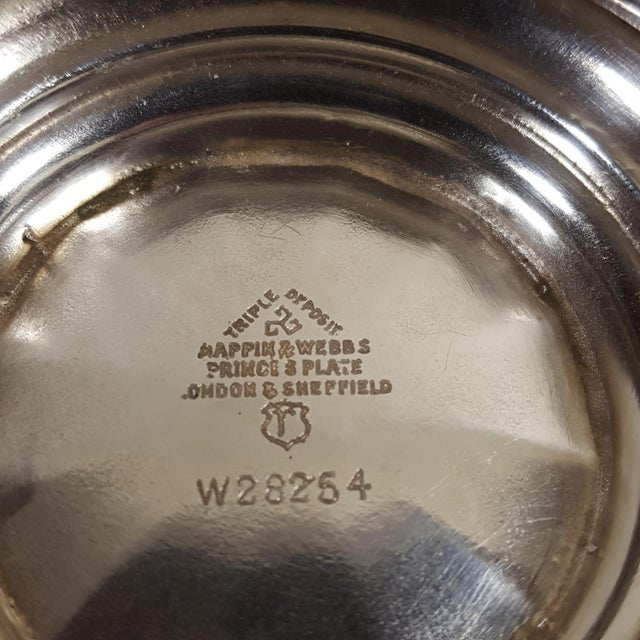 1920s Antique Mappin and Webb Silver Plated Candy Dish For Sale In Dallas - Image 6 of 7