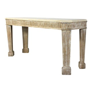 Large Limed Oak Console Table