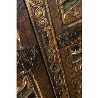19th Century Italian Painted Armoire With Gothic Carvings Preview