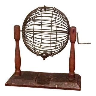 1930's Antique Bingo Cage For Sale