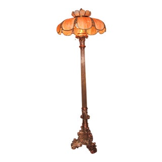Old Oregon Hotel Copper Finished Brass Floor Lamp For Sale
