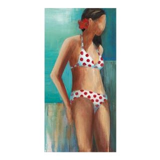 "Original Acrylic Painting ""Polka Dot Bikini"" by Artist Terri Burris For Sale"