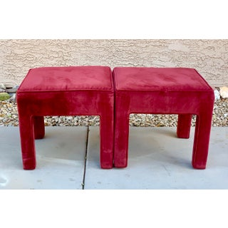 1980's Vintage Velour Benches- a Pair Preview