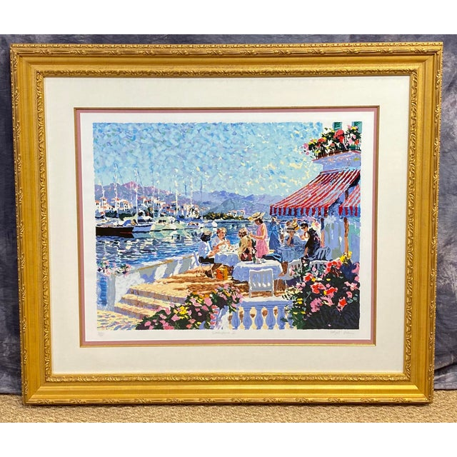 """""""Waterfront II"""" Signed and Numbered Lithograph by Hazel Soan For Sale - Image 9 of 9"""