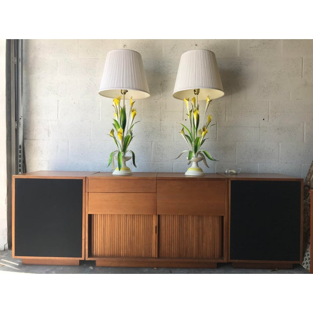 1970 Italian Tole Table Lamps - a Pair For Sale - Image 12 of 13