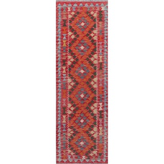 Pakistani Handwoven Reversible Kilim Rug - 2′2″ × 6′10″ For Sale