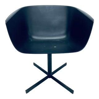 "Carlo Colombo Postmodern ""Strip"" Matte Black Swivel Chair for Poliform For Sale"