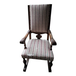 1920s Throne Chair For Sale