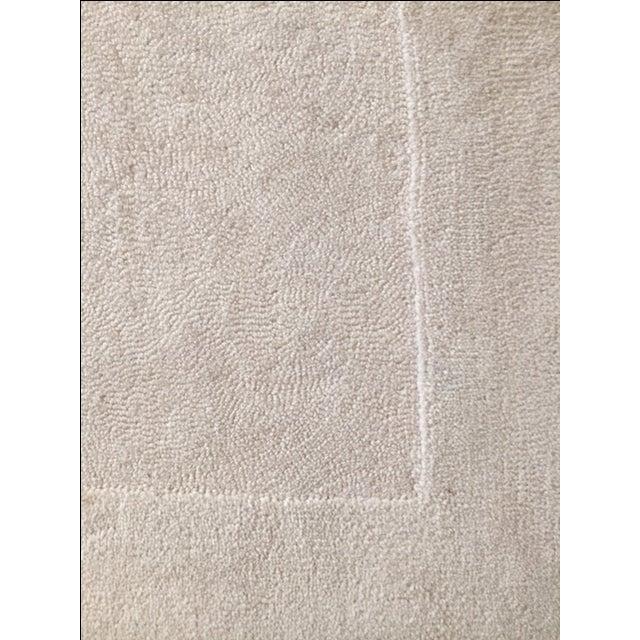 Bone White Designer Wool Rug- 11' x 14' - Image 3 of 7