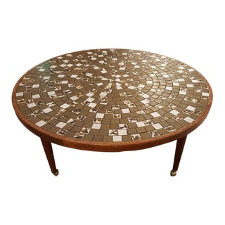 Martz Mosaic Tile Coffee Table For Sale