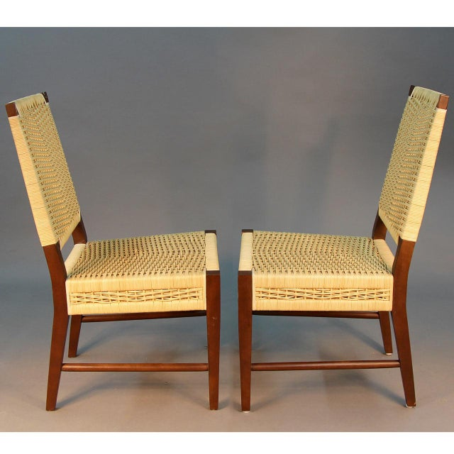 Donghia Dining Chairs with Merbau Wood - Set of 4 - Image 5 of 9