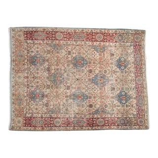 "Vintage Distressed Kerman Carpet - 6'10"" X 9'4"""