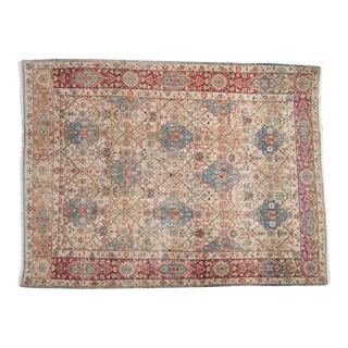 "Vintage Distressed Kerman Carpet - 6'10"" X 9'4"" For Sale"