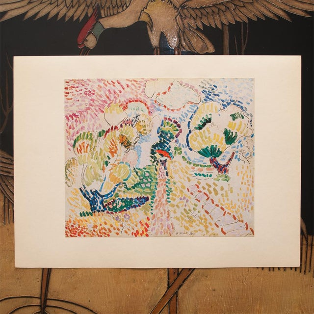 "Modern 1947 Henri Matisse, ""The Olives"" Original Period Parisian Lithograph For Sale - Image 3 of 8"