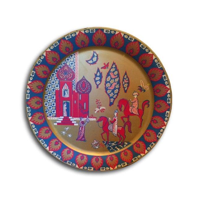 Taj Mahal Decorative Metal Plate - Image 1 of 4