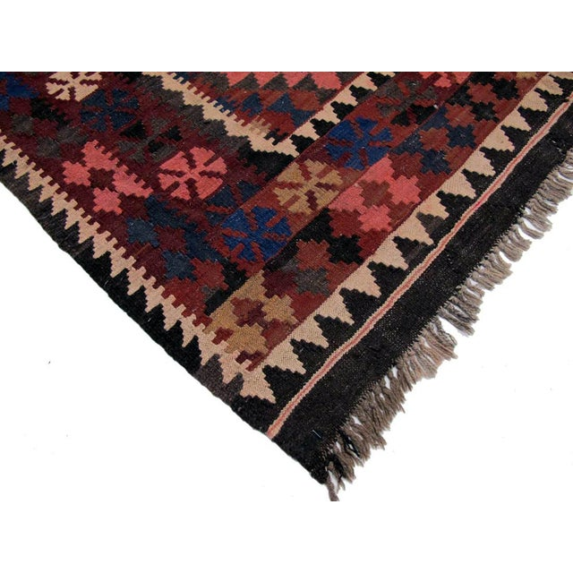 "Afghan Vintage Afghan Kilim - 5'3"" x 8' For Sale - Image 3 of 3"