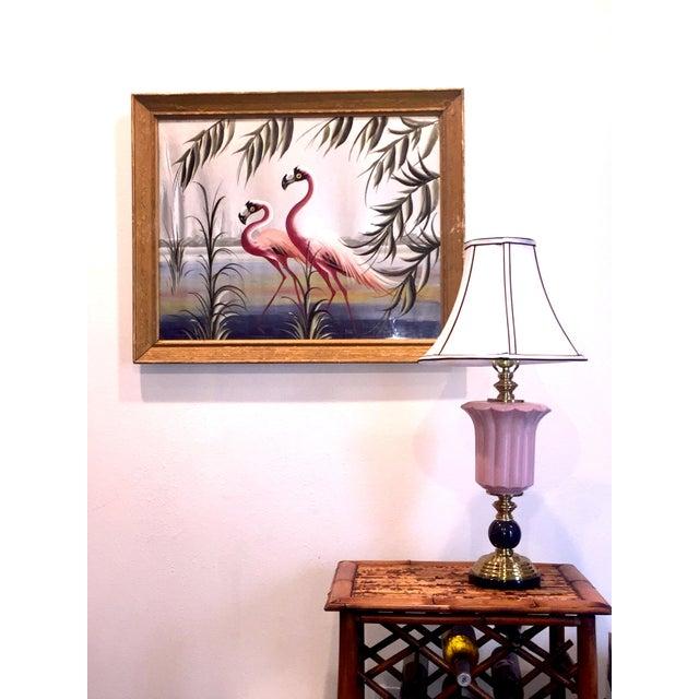 Hollywood Regency Flamingo Art - Image 2 of 6